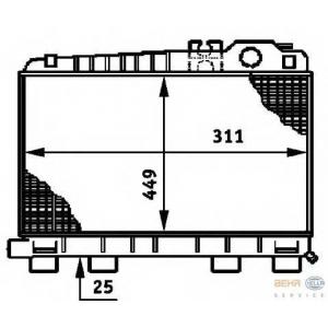 HELLA 8MK376720-741 Radiator
