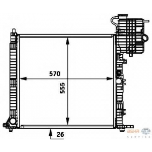HELLA 8MK376722-031 Radiator