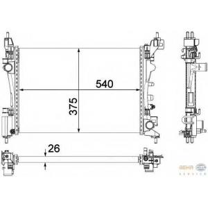HELLA 8MK376756-321 Radiator