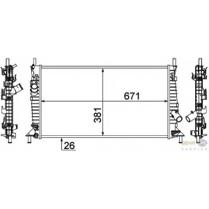 HELLA 8MK376764-341 Radiator