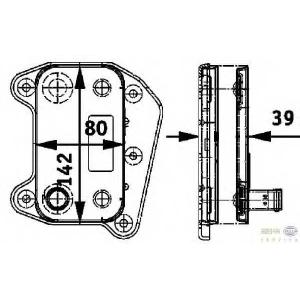 HELLA 8MO 376 726-321 Радіатор масляний