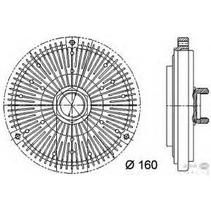 HELLA 8MV 376 731-491 Муфта вентилятора