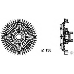 HELLA 8MV 376 732-021 Вискомуфта вентилятора радиатора