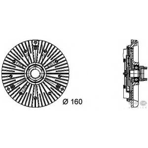 HELLA 8MV376732031 Сцепление, вентилятор радиатора