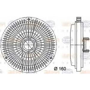 HELLA 8MV 376 733-011 Муфта вентилятору