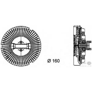 HELLA 8MV 376 733-021 Муфта вентилятора