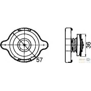 HELLA 8MY 376 742-061 Крышка, резервуар охлаждающей жидкости