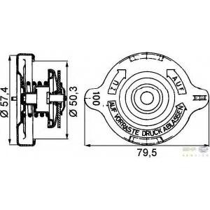 HELLA 8MY 376 742-181 Крышка, резервуар охлаждающей жидкости