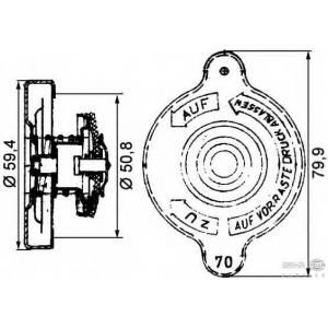 HELLA 8MY 376 742-191 Крышка, резервуар охлаждающей жидкости