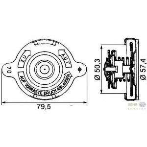 HELLA 8MY 376 742-201 Крышка, резервуар охлаждающей жидкости