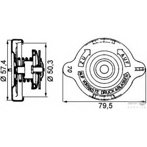 HELLA 8MY 376 742-211 Крышка, резервуар охлаждающей жидкости