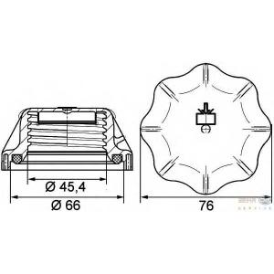 HELLA 8MY 376 742-311 Крышка, резервуар охлаждающей жидкости