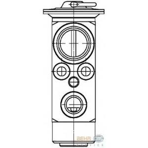 HELLA 8UW 351 029-031 Расширительный клапан, кондиционер