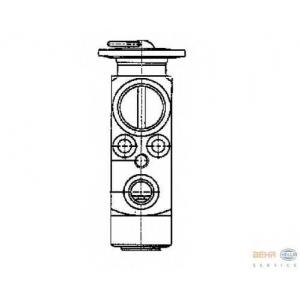 HELLA 8UW 351 234-041 Расширительный клапан, кондиционер