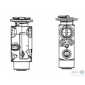 HELLA 8UW 351 234-091 Расширительный клапан, кондиционер