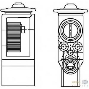 HELLA 8UW 351 234-111 Расширительный клапан, кондиционер