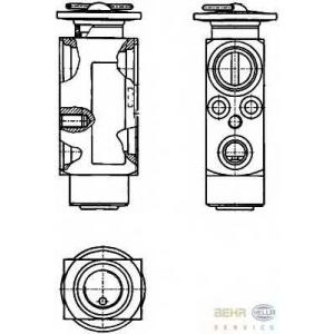 HELLA 8UW 351 234-121 Расширительный клапан, кондиционер