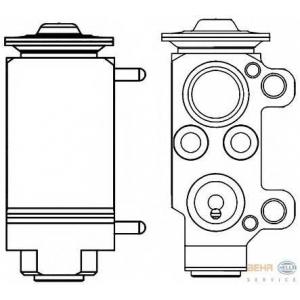 HELLA 8UW 351 234-131 Расширительный клапан, кондиционер
