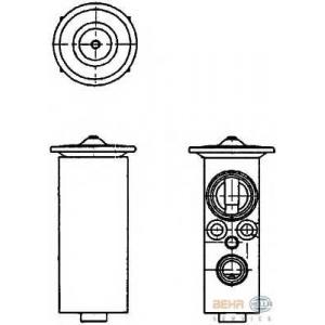 HELLA 8UW 351 234-141 Расширительный клапан, кондиционер