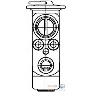 HELLA 8UW 351 234-151 Расширительный клапан, кондиционер
