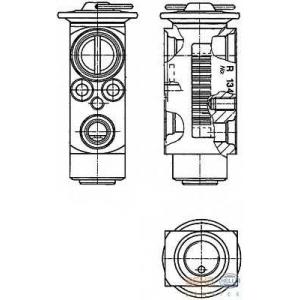 HELLA 8UW 351 234-181 Расширительный клапан, кондиционер