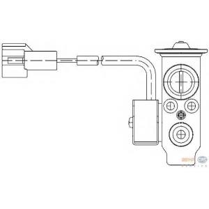 HELLA 8UW 351 234-191 Расширительный клапан, кондиционер