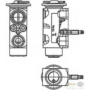 HELLA 8UW 351 234-201 Расширительный клапан, кондиционер