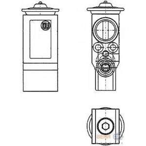 HELLA 8UW 351 234-221 Расширительный клапан, кондиционер