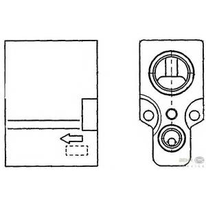HELLA 8UW 351 234-241 Расширительный клапан, кондиционер