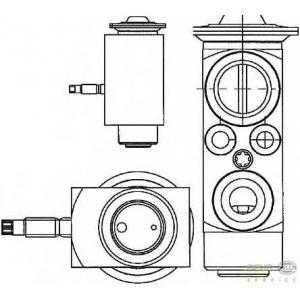 HELLA 8UW 351 234-401 Расширительный клапан, кондиционер