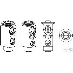 HELLA 8UW 351 234-431 Расширительный клапан, кондиционер