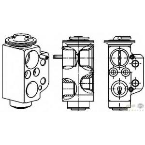 HELLA 8UW 351 234-471 Расширительный клапан, кондиционер