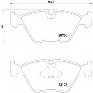 HELLA PAGID 8DB 355 008-971 Комплект тормозных колодок, дисковый тормоз Ягуар