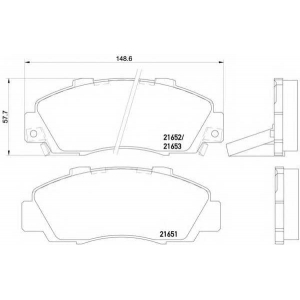 HELLA PAGID 8DB 355 016-441 Комплект тормозных колодок, дисковый тормоз Акура Нсх