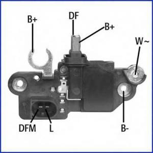 HUCO 130570 Реле - регулятор генератора Audi, VW, MB, Renault