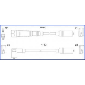 HUCO 134716 Провод высоковольтный, комплект