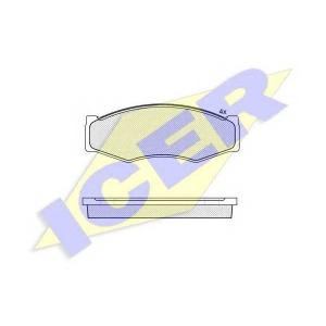 ICER 140526 Комплект тормозных колодок, дисковый тормоз Инфинити М-30