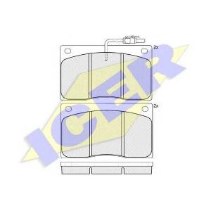 ICER 140544 Комплект тормозных колодок, дисковый тормоз
