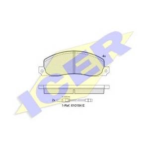 ICER 140620 Комплект тормозных колодок, дисковый тормоз