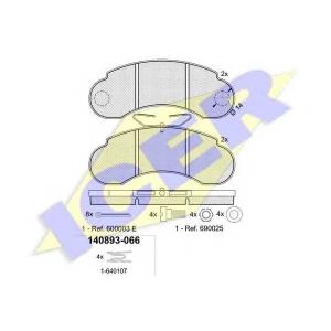 ICER 140893 Комплект тормозных колодок, дисковый тормоз Мерседес 100