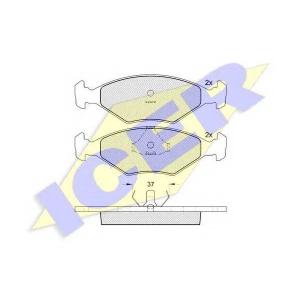 ICER 140926 Комплект тормозных колодок, дисковый тормоз Фиат