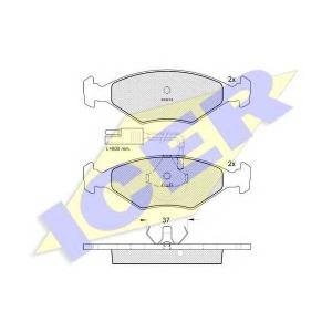 ICER 140927 Комплект тормозных колодок, дисковый тормоз Фиат