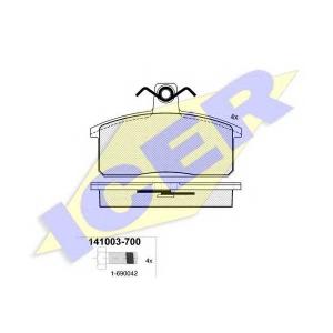Комплект тормозных колодок, дисковый тормоз 141003700 icer - SUZUKI SAMURAI (SJ) вездеход закрытый 1.3 Allrad (SJ 413)