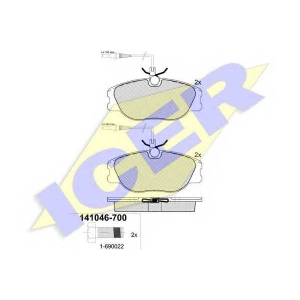 �������� ��������� �������, �������� ������ 141046700 icer - PEUGEOT 806 (221) ��� 2.0 Turbo