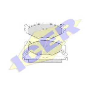 ICER 141056 Комплект тормозных колодок, дисковый тормоз Крайслер Le