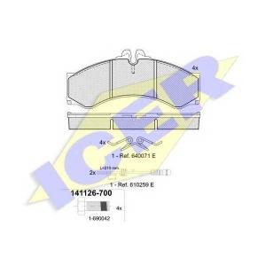 ICER 141126700 Тормозные колодки дисковые