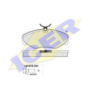 ICER 141315701 Тормозные колодки дисковые