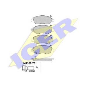 ICER 141367701 Тормозные колодки дисковые