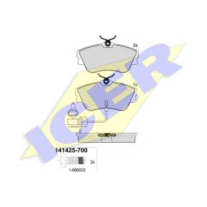ICER 141425700 Тормозные колодки дисковые