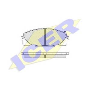 ICER 141931 Колодки тормозные дисковые, комплект